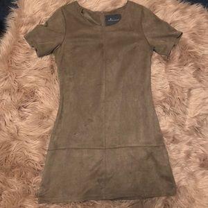 Dresses & Skirts - Tan faux suede dress